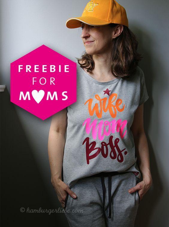 Mein vorzeitiges Geschenk für euch Mom Bosses zum Muttertag – Plotter-Freebie bei Alles für Selbermacher
