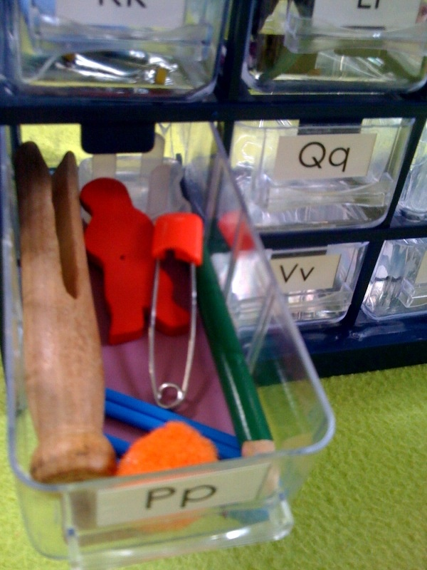 Learning letter sounds Alphabet box - we need this at school so we don't have to resort the toys every time we pull the manipulatives from other sets.