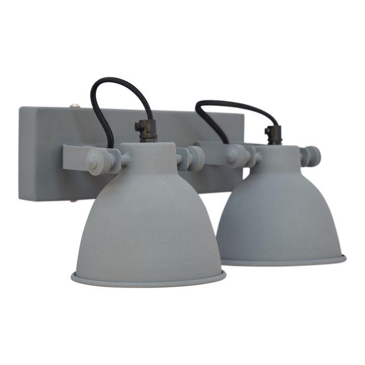 Wandlamp industrial double vintage grey