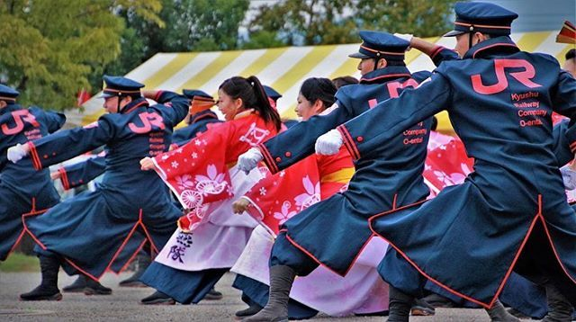 jr九州櫻燕隊ハッシュタグ instagram 写真と動画 祭り 軍の服装 よさこい祭り