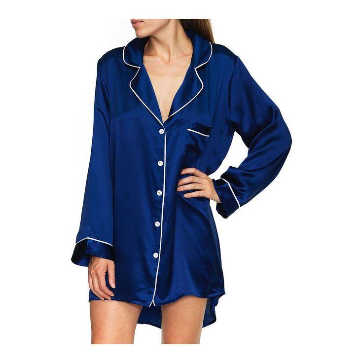 Silk Sleep Shirt - Navy [PRE-ORDER]