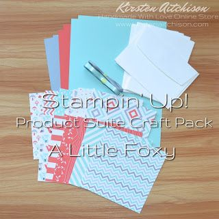 Kirsten Aitchison   Retired Stampin' Up! Product Suite Craft Packs   Click to find out more   #kirstenaitchison #productsuitecraftpack #craftpack #alittlefoxy #designerseriespaper #dsp #ribbon #embellishments #crazycrafters #stampinup