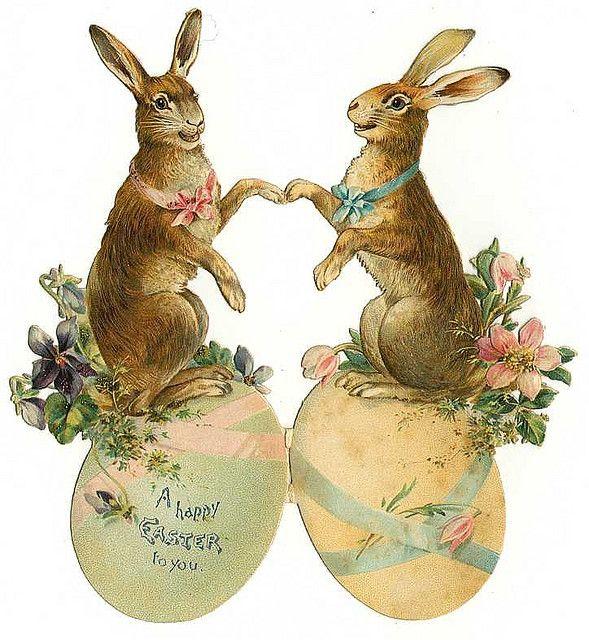 #Easter #vintage #rabbits
