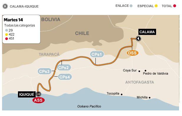 #Dakar2014 : Los organizadores de la competencia llaman al Desierto de Atacama el Corazón del Dakar