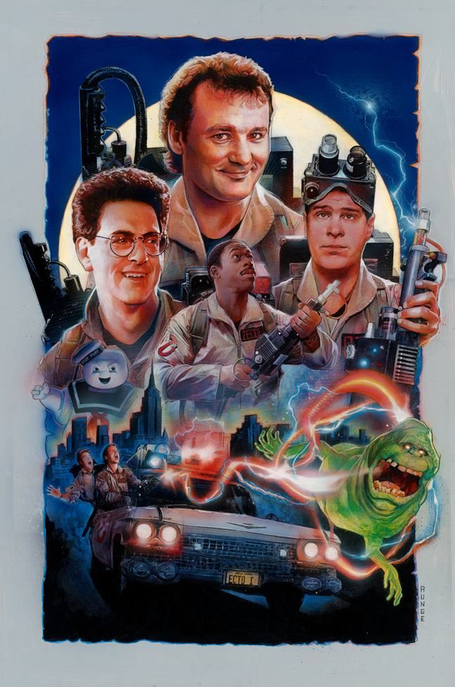 "keeponbusting: ""Who ya gonna call?"" by Nick Runge. Prints Available through Hero Complex Gallery HERE (limited time only August 29th to September 1st)."