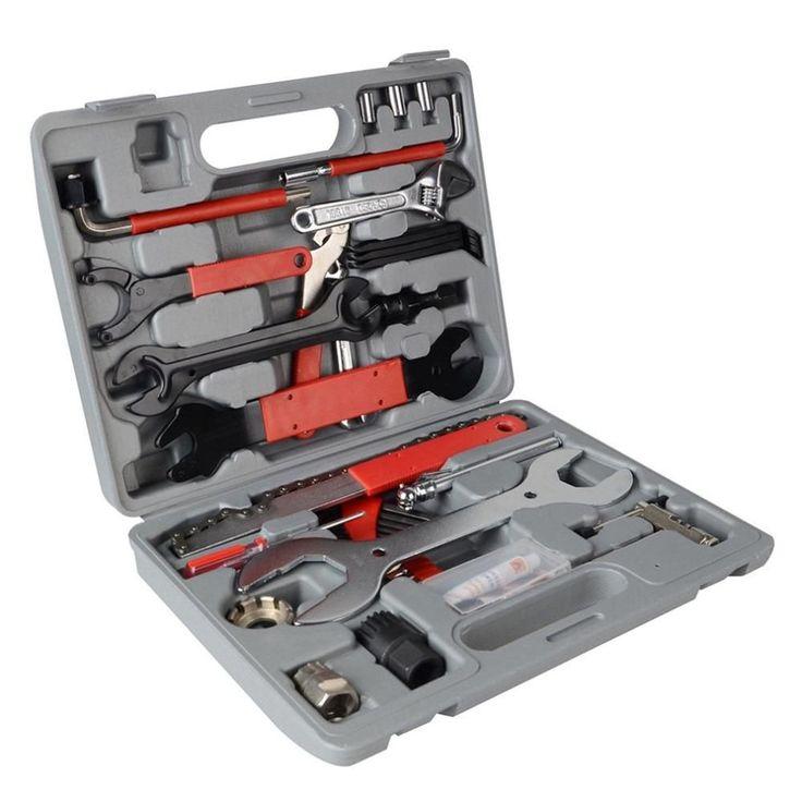 44pcs Bike Cycling Bicycle Maintenance Repair Hand Wrench Tool Kit Box Case