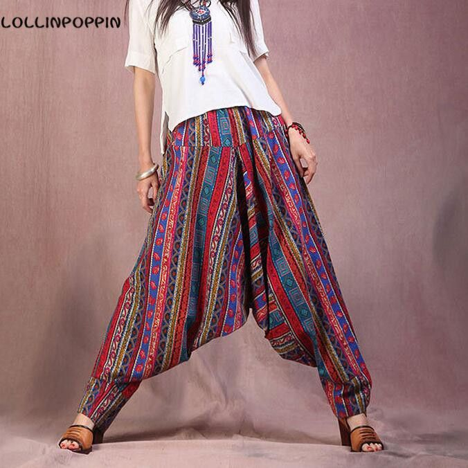 Women Low Crotch Bohemian Pants Ethnic National Style //Price: $65.48 & FREE Shipping //     #yogawear