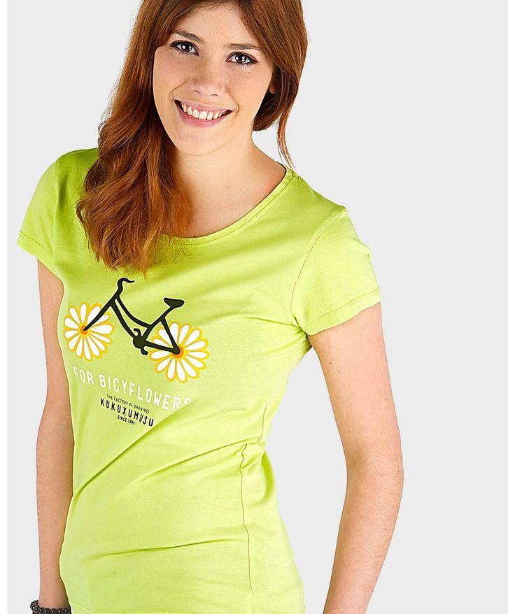 Camisetas originales mujer - Flowerbike