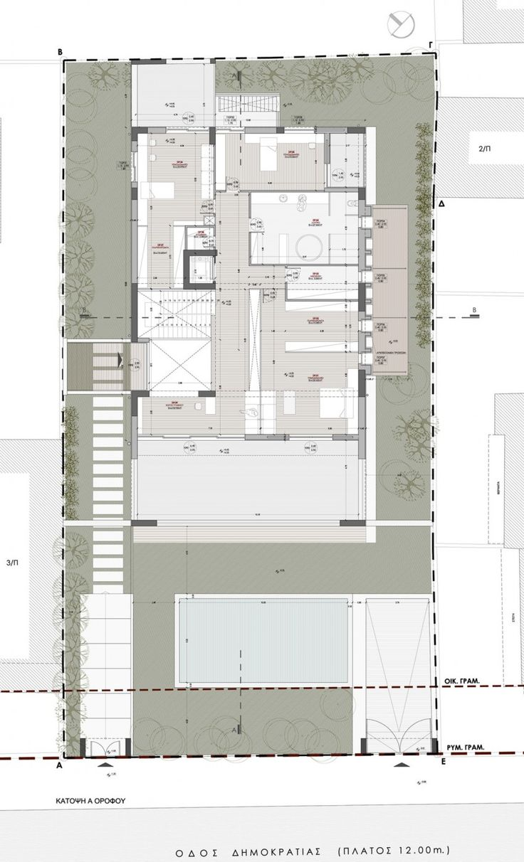 328 best architectural plans images on pinterest floor plans residence in glyfada by dolihos architects 21
