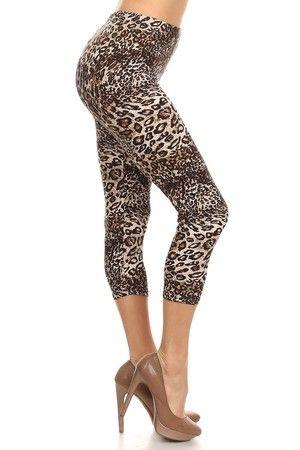 Wild Cheetah Capri Leggings