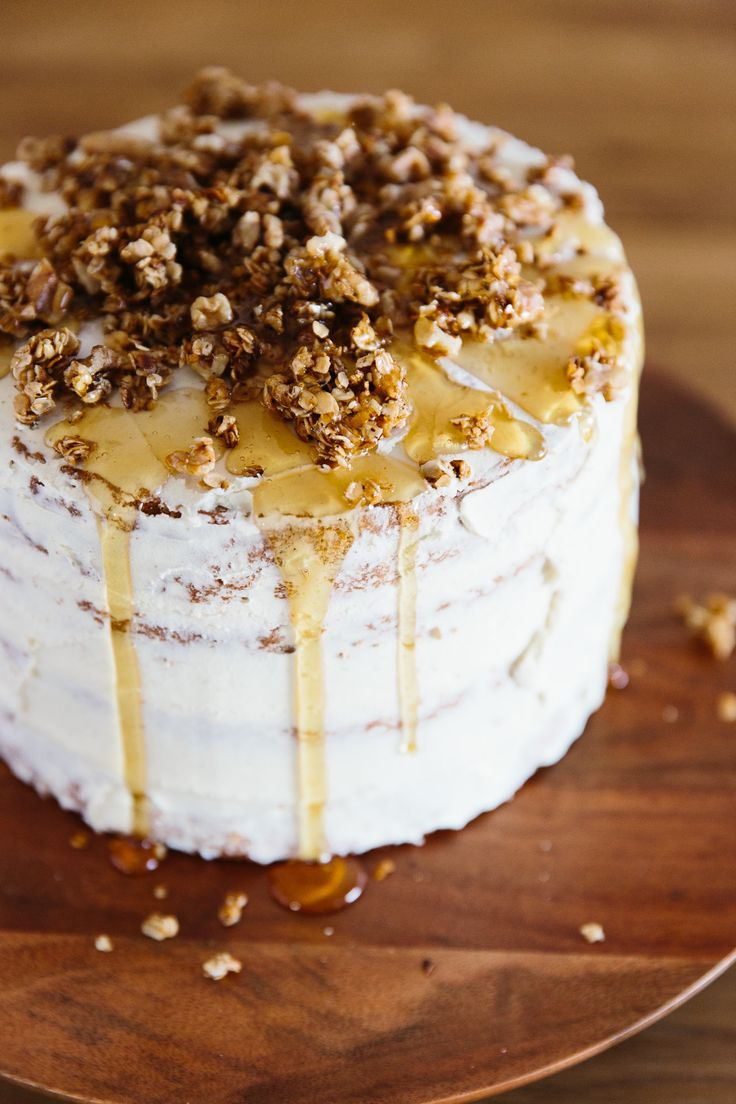 Honey Apple Layer Cake. Fresh Apple Cake, Honey-Sour Cream Buttercream, and Skillet Oak Crumble.  This impressive homemade dessert is excellent for any occasion, be it a Sunday brunch, afternoon tea, or a birthday. Who doesn't love cakes?!