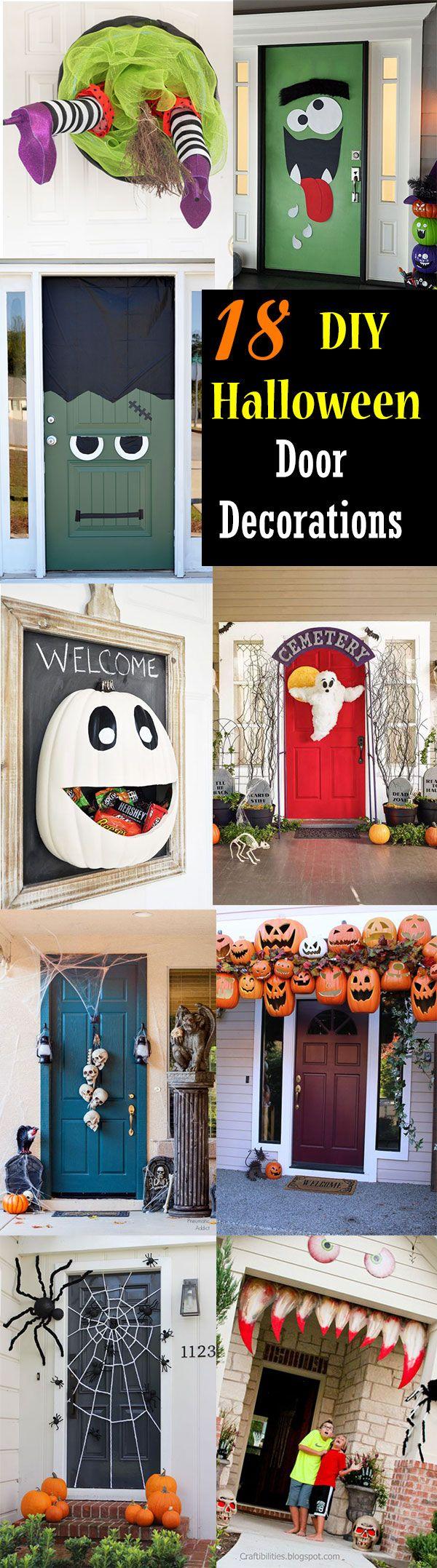 18 A Door Able Halloween Door Decorations You Can