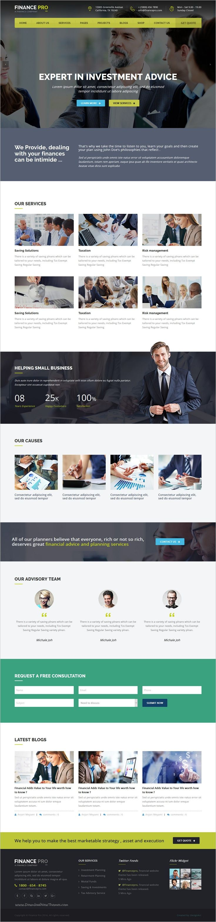 Finance Pro And Business HTML Template