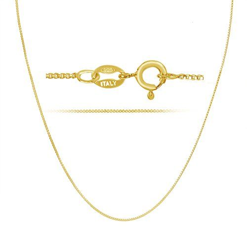 http://picxania.com/wp-content/uploads/2017/09/18k-gold-over-sterling-silver-1mm-box-chain-necklace-made-in-italy-24-inch.jpg - http://picxania.com/18k-gold-over-sterling-silver-1mm-box-chain-necklace-made-in-italy-24-inch/ - 18k Gold over Sterling Silver 1mm Box Chain Necklace Made in Italy 24 Inch -   Price:    This classic 18K gold plated box necklace chain is crafted in Italy with the finest standards of workmanship. It is made of solid genuine .925 sterling silver with a