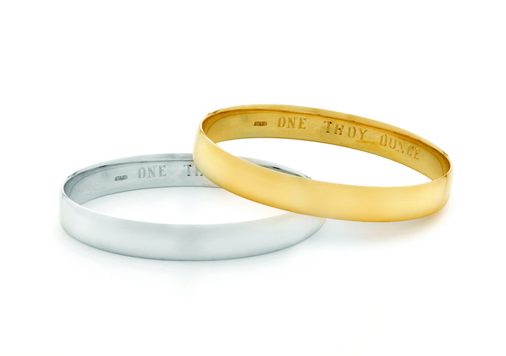 Troy Ounce Bangle in Gold or Silver - Available in store at Precious Metals