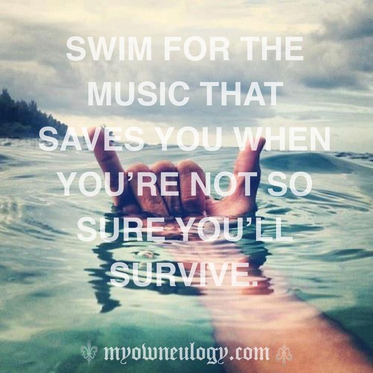 Swim Quotes: Sink Or Swim #quote