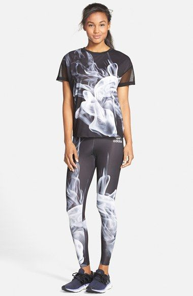 Workout Clothes & Fitness Gear | adidas 'White Smoke' Leggings | Nordstrom