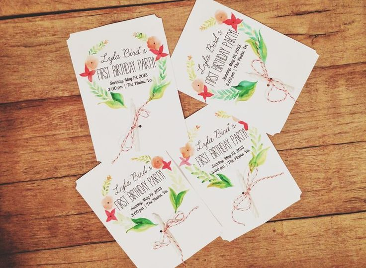 The cutest first birthday invites