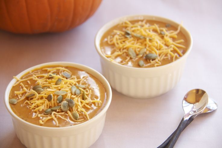 Spicy Chipotle and Cheddar Pumpkin Soup | Recipe