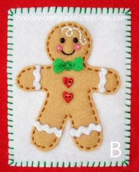 Muñeco de jengibre | Imprimibles Gratis | Pinterest | Gingerbread, Felt and Boys