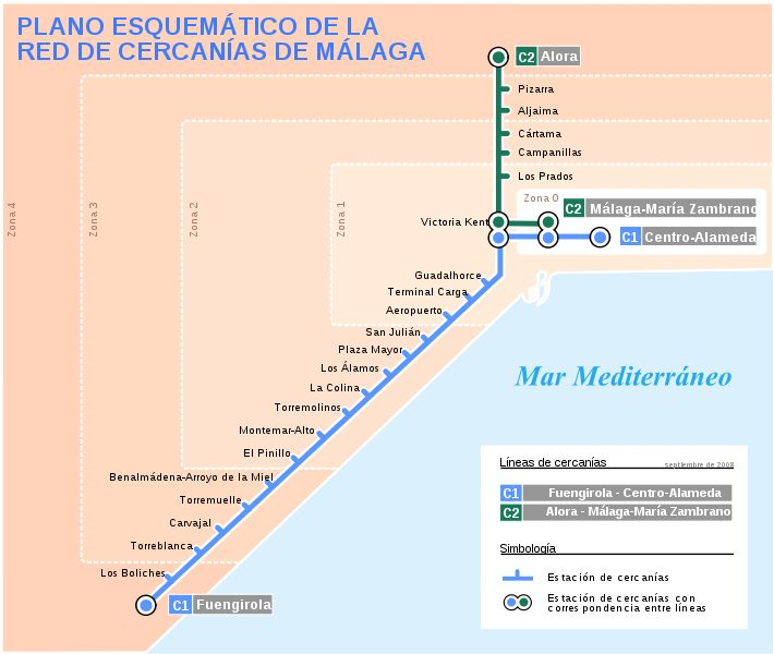 Fuengirola Train Timetable and Map