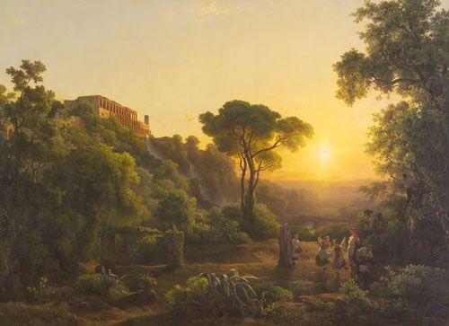 Markó, Károly Landscape with a Vintage Scene near Tivoli 1846