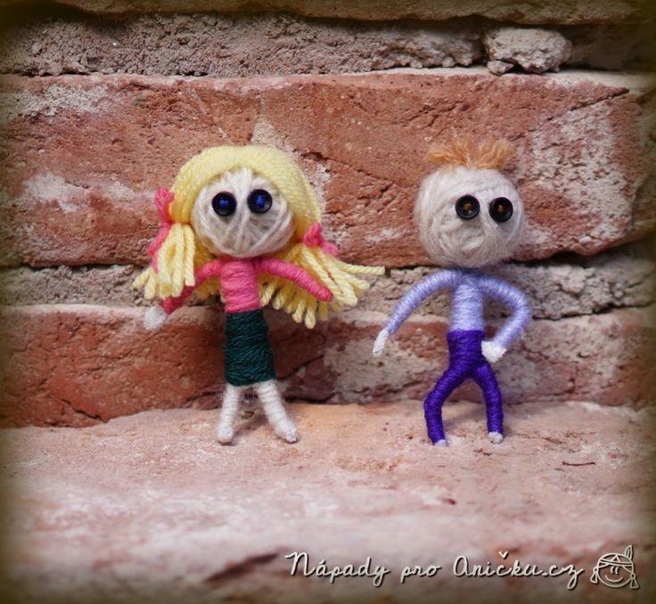 Kofoláčci aneb panáčci z vlny - Doll from wool and pipe cleaner