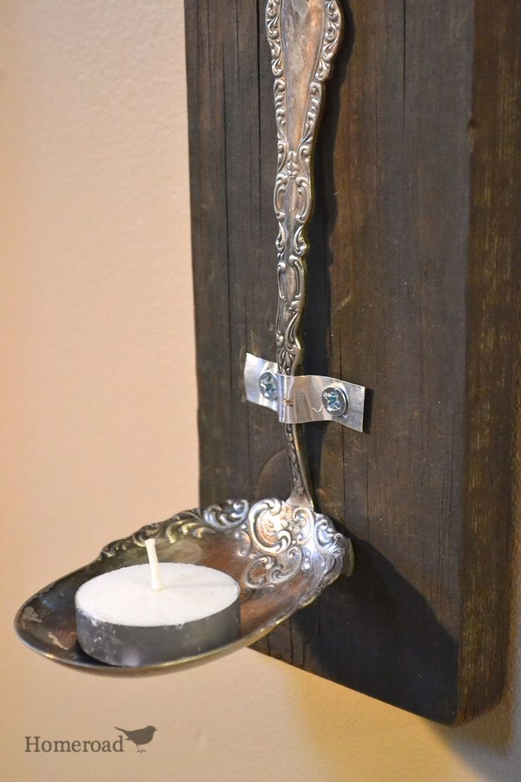 rustic vintage spoon tea light candles www.homeroad.net