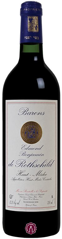 (64) Barons Edmond and Benjamin de Rothschild Haut-Medoc is a blended wine (Cabernet Sauvignon 60% and Merlot 40%). The wine offers attractive spicy notes, with rich fruit flavors. Pair with Beef, veal, lamb or duck.