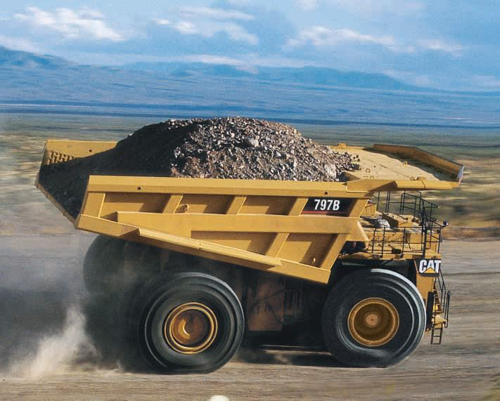 Cat C175 Engine, Refined Drive Train and Efficient Body Designs for 797F Mining Truck