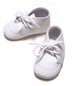 Infant Boy White Dress Shoes