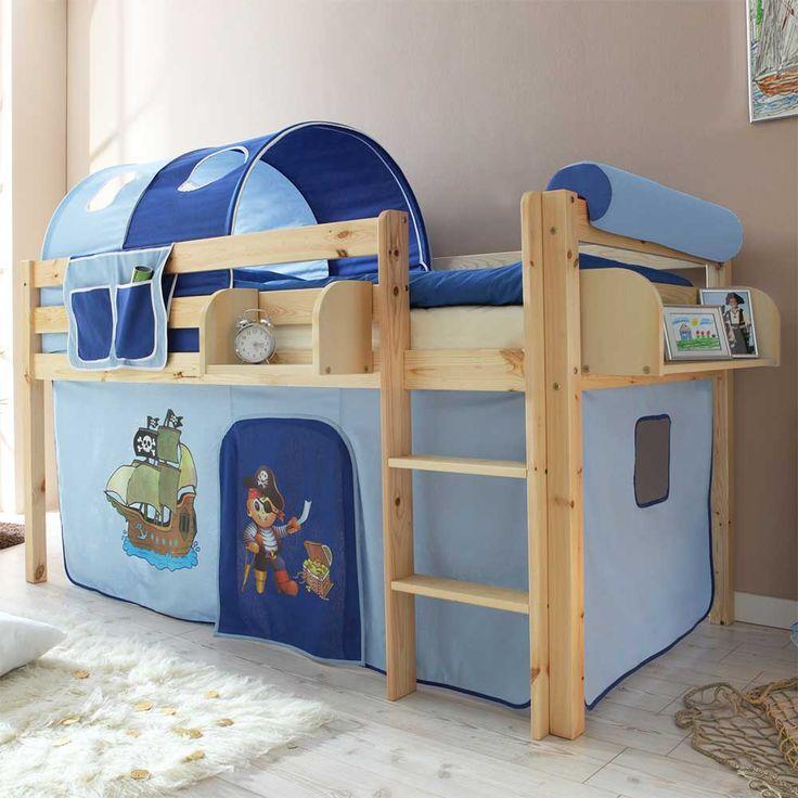 Epic Jungen Halbhochbett im Piraten Design Blau Jetzt bestellen unter https moebel ladendirekt de kinderzimmer betten hochbetten uid udff eab