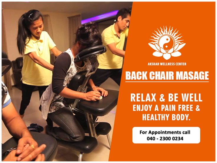 Back massage relieves stress, muscle tension and improves circulation. Come down to our centre and rejuvenate yourself. #BackChairmassage #Wellness #Aksharwellness