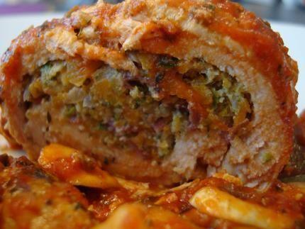 Paupiettes de dinde farcies aux légumes – sauce tomate et champignons - Minceur!