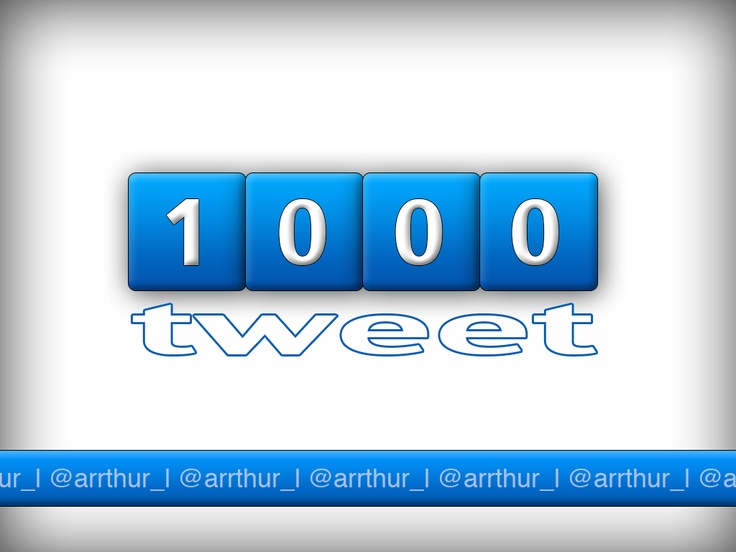 1000 tweet on my account)