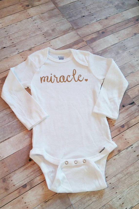 Miracle Onesie  Baby Shower Gift  Take Home by RoseMonroeDesign