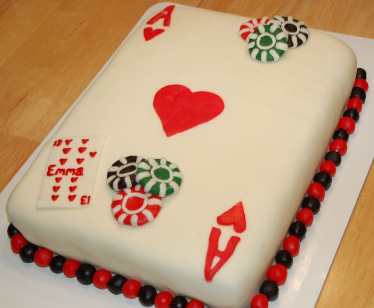 Birthday Cake Images Card : Casino playing card cake Moms 65th Birthday ideas ...