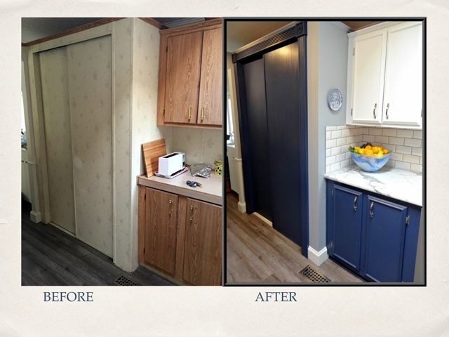 Before & After of the Food Storage Zone