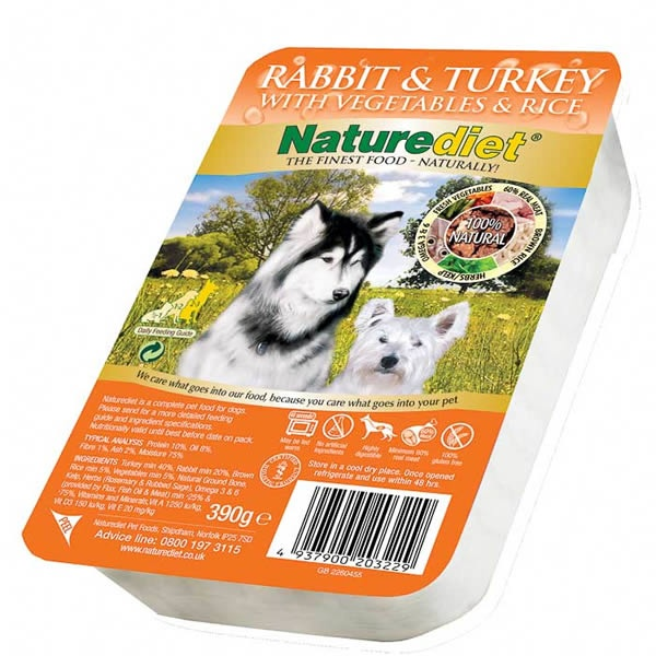 Naturediet Rabbit & Turkey Dog food comparison, Dog food