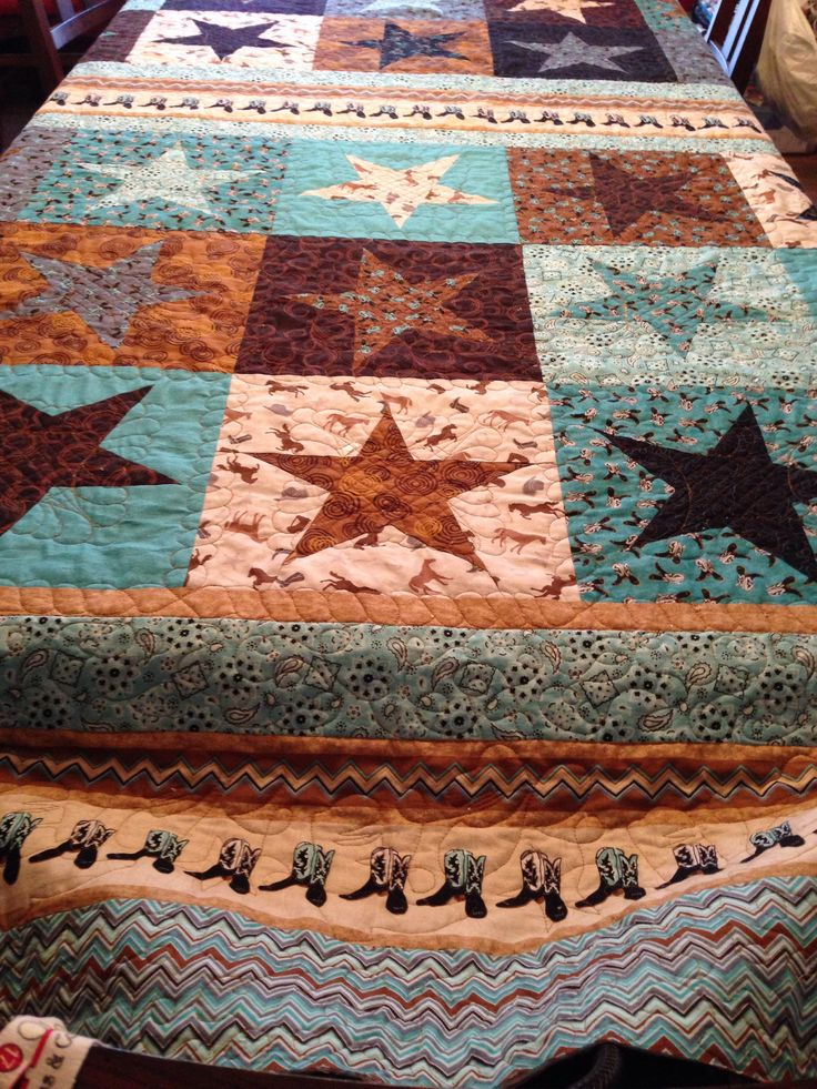 Cowgirls & Boots quilt created November 3013