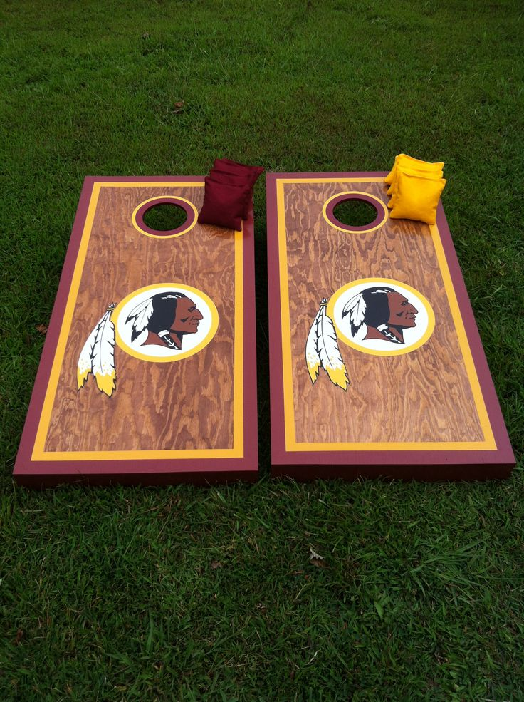 redskins cornhole boards