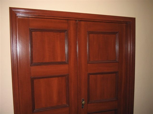 Faux Mahogany - Entrance Doors to Residential Dining Room
