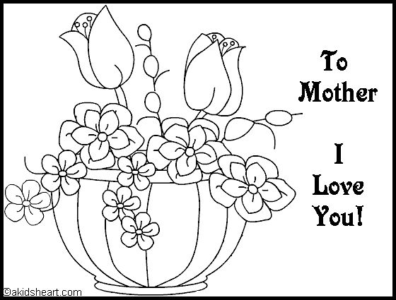 m is for mom kids coloring mothers day coloring page - Colouring Activities For Toddlers