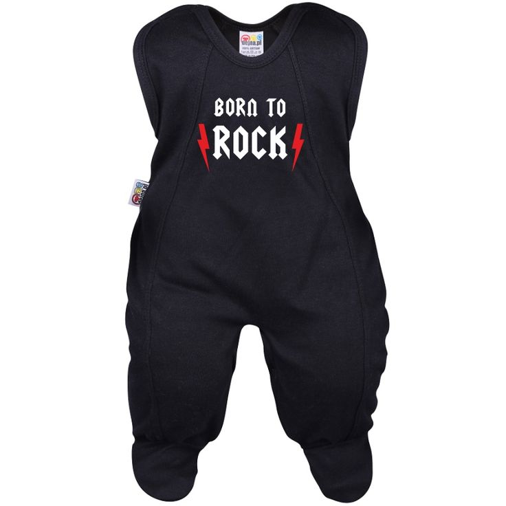 Grenouillère bébé rock : BORN to ROCK
