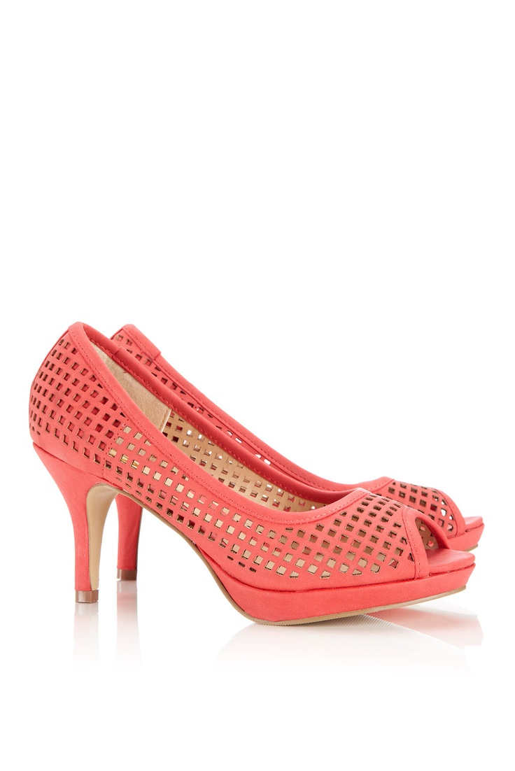Coral Wedges Wedding Shoes