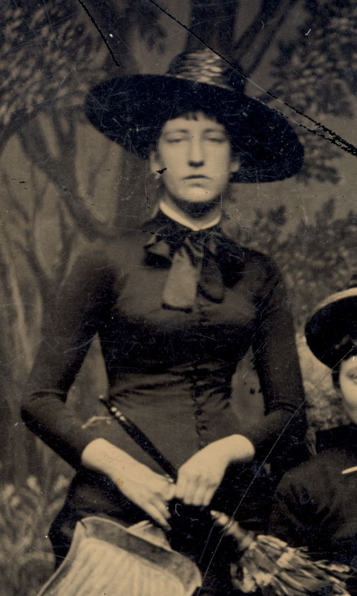 Tintype Witches (almost), 1875 from http://sexywitch.wordpress.com/2011/06/25/tintype-witches-almost-1875/#