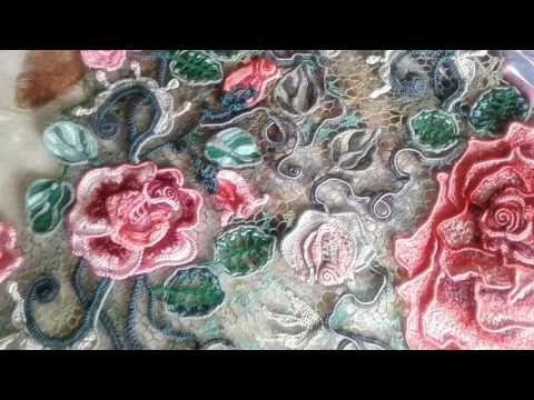 Роза для Ирландского кружева. Часть 1 - YouTube
