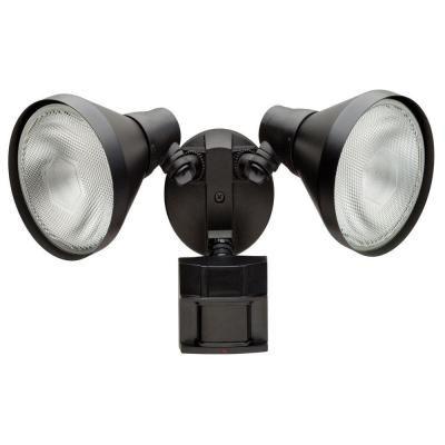 *L21*Defiant 110 Degree Outdoor Black Motion Sensing Security-Light-DF-5415-BK at The Home Depot