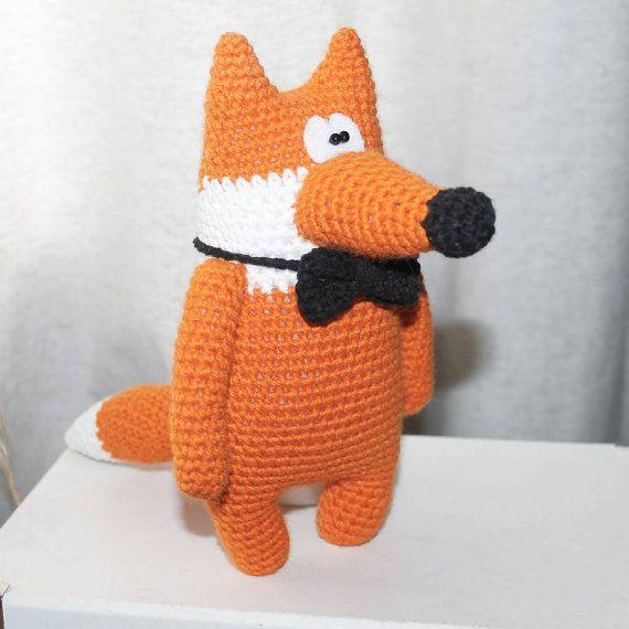 Fox stuffed toy doll knitted fox crochet fox hand от PrettyBalls