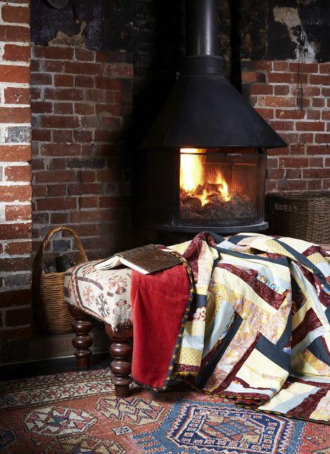 .black fireplace stove